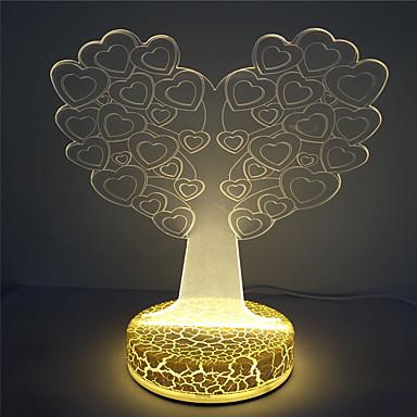 høy kvalitet beste barn gave 3d illusjon hjerte treet utforming nattlys