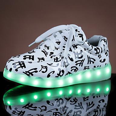 Unisex Kengät PU Kevät Syksy Comfort Crib Shoes Nilkkahihna Välkkyvät kengät Lenkkitossut Kävely Tasapohja Pyöreä kärkinen Solmittavat