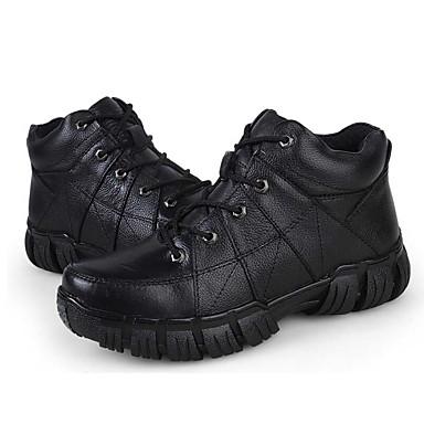男性用 靴 レザー コンフォートシューズ ブーツ のために カジュアル ブラック コーヒー