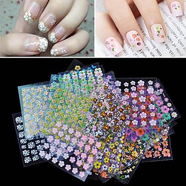 30 pcs Calcomanías de Uñas 3D arte de uñas Manicura pedicura Moda Diario / Pegatinas de uñas 3D