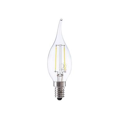 E14 LED-hehkulamput B 2 ledit COB Lämmin valkoinen Kylmä valkoinen 250lm 6500K AC 220-240V
