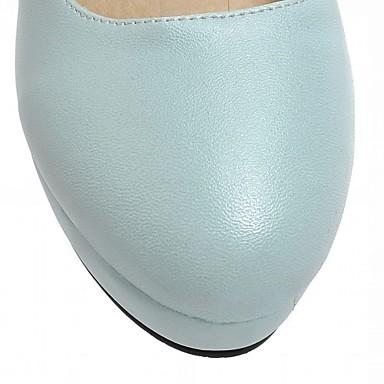 rond Marche Talon Confort Femme Eté Bottier Nouveauté Plateau Bout Talons Chaussures Verni 05445912 Cuir à Printemps Microfibre Chaussures aPAHR1
