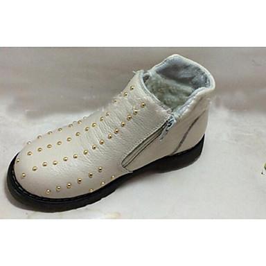 BootsitTyttöjen-Nahka-Valkoinen Musta-Rento-Comfort