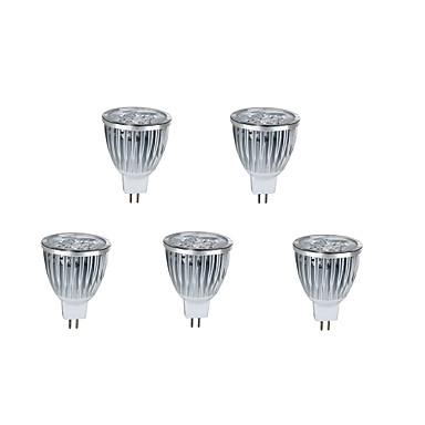 5pcs 7 W 800 lm MR16 LED-spotpærer 5 LED perler Høyeffekts-LED Dekorativ Varm hvit / Kjølig hvit 12 V / 5 stk. / RoHs