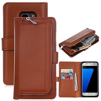 Hülle Für Samsung Galaxy Samsung Galaxy S7 Edge Geldbeutel / Kreditkartenfächer / Flipbare Hülle Ganzkörper-Gehäuse Solide Hart PU-Leder für S8 Plus / S8 / S7 edge