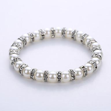 男性用 / 女性用 ストランドブレスレット / ヨガのブレスレット - 真珠, 人造真珠 ブレスレット ゴールド / シルバー 用途 パーティー / 誕生日 / おめでとう