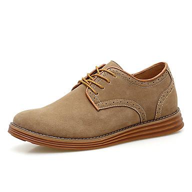 Miehet kengät Mokkanahka Polyesteri Kevät Syksy Talvi Comfort Muotisaappaat Bootsit Käyttötarkoitus Kausaliteetti Tumman sininen Khaki