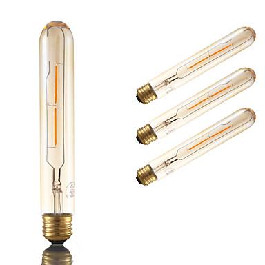GMY® 4pcs 2 W 160 lm Bombillas de Filamento LED T 2 Cuentas LED COB Regulable / Decorativa Ámbar 110-130 V / 4 piezas