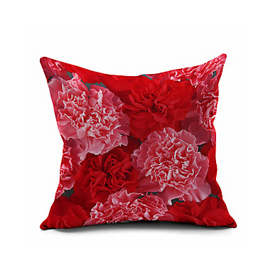 1 stk Bomull/Lin Putevar Putecover, Blomstret Dekorativ Moderne / Nutidig