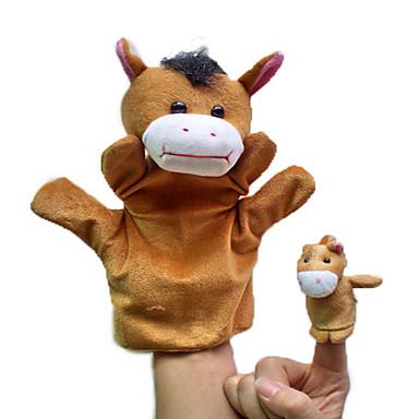 voordelige Marionetten-Vingerpoppetjes / Poppen / Knuffels & Pluche dieren Paard Schattig / Dieren / Noviteit Pluche Jongens / Meisjes Geschenk