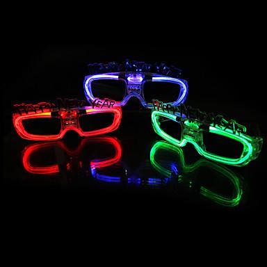 voordelige Oplichtend speelgoed-New Year's eve party LED flash glasses LED-verlichting LED-Floodlights Hallloween figuren Sportbeschermingsbril Glans LED-verlichting Cool ABS Jongens Speeltjes Geschenk 5000 pcs