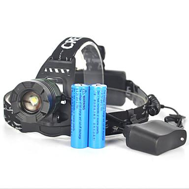ヘッドランプ 自転車用ライト ヘッドライト LED 3500 lm 1 モード Cree XM-L T6 ズーム可能 アングルライトのヘッド部 スーパーライト キャンプ/ハイキング/ケイビング 狩猟 旅行 多機能