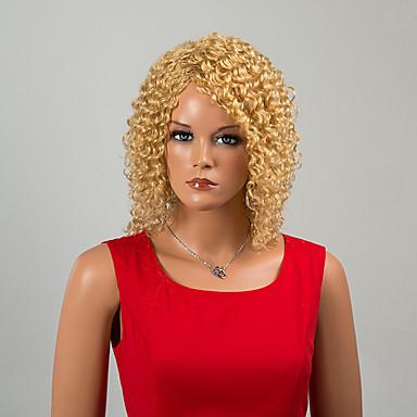 elegantti keskipitkät capless peruukit kiharat hiukset