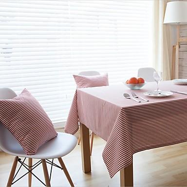Suorakulma Raidoitettu Table Cloths , Mélange Lin/Coton materiaali Hotel ruokapöytä Häät Party Sisustus Häihin Illallinen Joulu Sisustus
