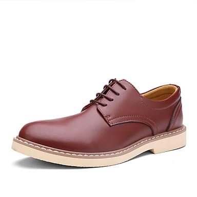 メンズ 靴 レザー 春 夏 秋 冬 コンフォートシューズ オックスフォードシューズ 用途 結婚式 パーティー ブラック ライトブラウン ダークブラウン