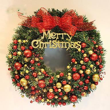 1pç Férias e Cumprimentos Guirlandas Natal Festa, Decorações de férias Ornamentos de férias