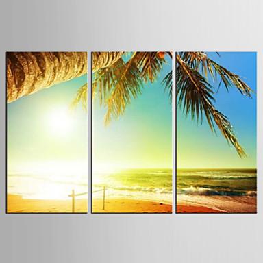 キャンバスセット 抽象画 / 風景 Modern / 地中海風,3枚 キャンバス 縦長 版画 壁の装飾 For ホームデコレーション