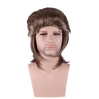 女性 男性 人工毛ウィッグ キャップレス ストレート イエロー ナチュラルウィッグ コスチュームウィッグ