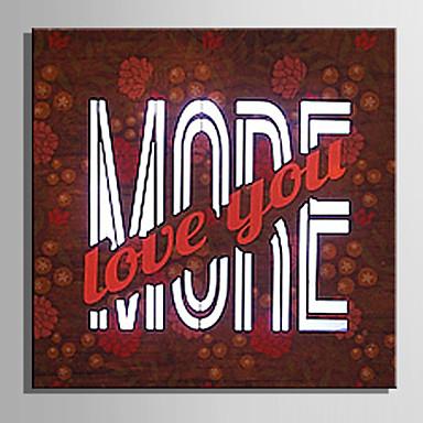 LED canvas-taide Maisema Moderni / European Style,1 paneeli Kanvas Neliö Tulosta Art Wall Decor For Kodinsisustus
