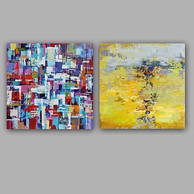 Hang-Painted öljymaalaus Maalattu - Abstrakti Klassinen / Moderni Kangas