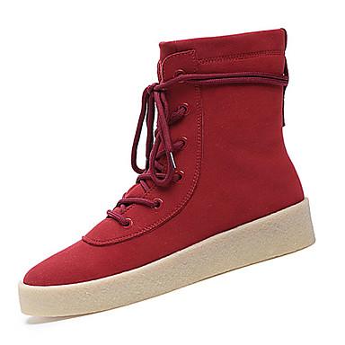 Miehet kengät PU Syksy Talvi Comfort Maiharit Bootsit Solmittavat Käyttötarkoitus Urheilullinen Kausaliteetti Musta Keltainen Harmaa