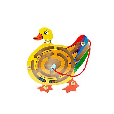 Muwanzi ブロックおもちゃ 迷路&シーケンスパズル 迷路 マグネット迷路 知育玩具 おもちゃ 磁石バックル アイデアジュェリー あひる ウッド カトゥーン 1 小品 子供用 男の子 女の子 誕生日 こどもの日 ギフト