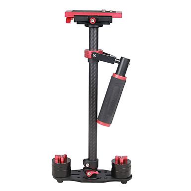yelangu s60t 60cm hiilikuitu handheld stabilaattori dslr kamera dv (punainen)