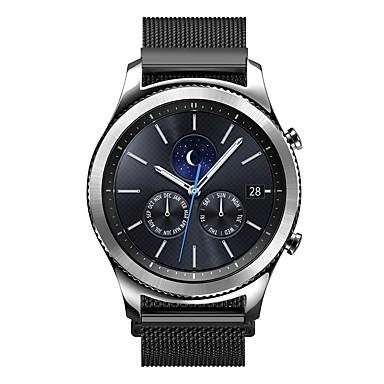 Klokkerem til Gear S3 Frontier Gear S3 Classic Samsung Galaxy Milanesisk rem Rustfritt stål Håndleddsrem