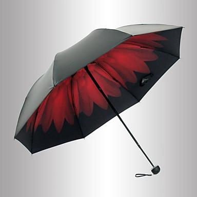 Plast Herre / Dame / Jente Parasoll Sammenfoldet paraply