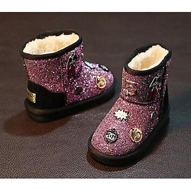 Jente Støvler Komfort Glitter Avslappet Svart Sølv Rosa Flat