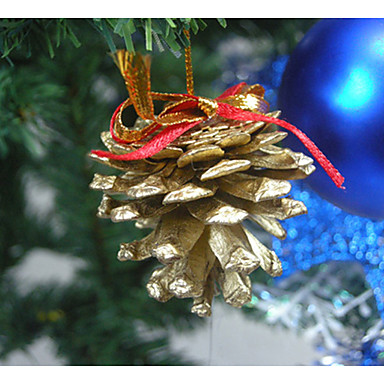 9個の人工的なエミュレーションコーンクリスマスツリー装飾の1セット
