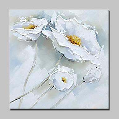 Pintura al óleo pintada a colgar Pintada a mano - Naturaleza muerta Floral / Botánico Modern Lona