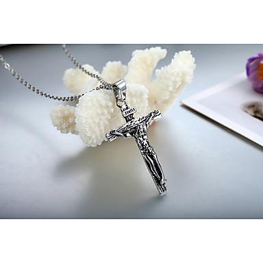 Herre Smykker Kors Formet Titanium Stål Euro-Amerikansk Mote Europeisk Smykker Til Avslappet