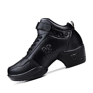 للمرأة بوط رقص جلد كعب برشام كعب متوسط غير مخصص أحذية الرقص أسود / تمرين