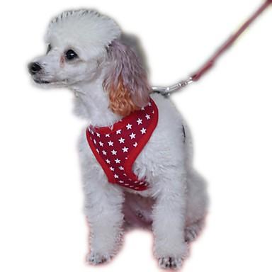犬用品 ハーネス / リード 調整可能/引き込み式 / コスプレ / 高通気性 / 安全用具 / ソフト / ランニング / ベスト / カジュアルスーツ 純色 レッド / ブラック / ブルー / ピンク メッシュ / クロス