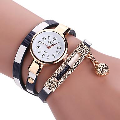 Mulheres Quartzo Relógio de Pulso / Bracele Relógio PU Banda Amuleto / Vintage / Casual / Boêmio / Fashion / Rígida Preta / Azul /