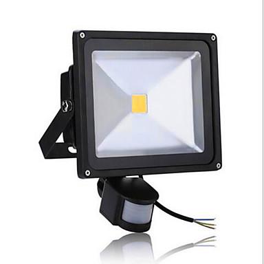 ac85-265v 50w冷たい白い/暖かい白い5000lm赤外線人体誘導の投光照明1pc