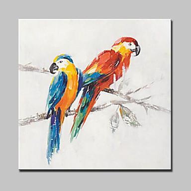 手描きの 動物 / ポップアップ 油彩画,Modern 1枚 キャンバス ハング塗装油絵 For ホームデコレーション