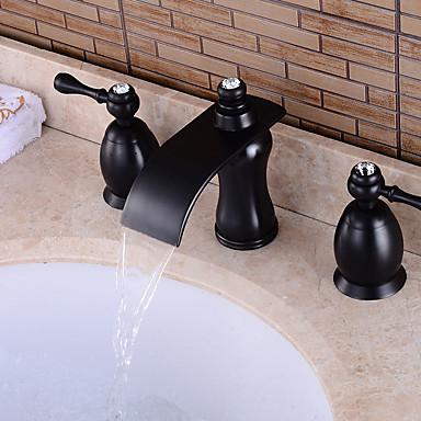 Ammehana - Esihuuhtelusuihku / Vesiputous / Laajallle ulottuva Antiikkikupari Amme ja suihku Kaksi kahvaa kolme reikää