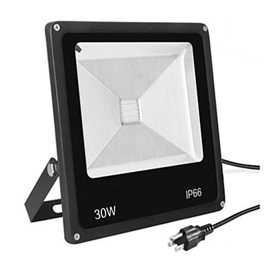 1PC 30 W أضواء الفيضان LED ضد الماء أبيض دافئ / أبيض كول 85-265 V إضاءة خارجية 1 الخرز LED