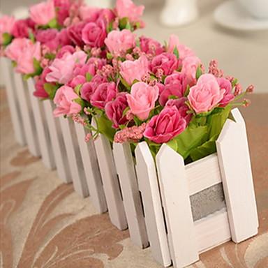 1 ブランチ プラスチック その他 バラ 植物 その他 テーブルトップフラワー 人工花