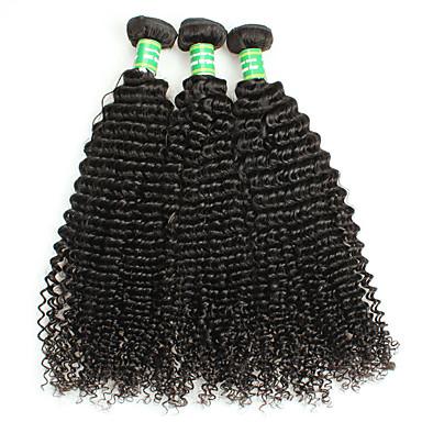 Sin procesar / Cabello Remy Extensión Natural Remy Rizado / Clásico / Kinky Curly Cabello Brasileño 300 g 1 Año Diario