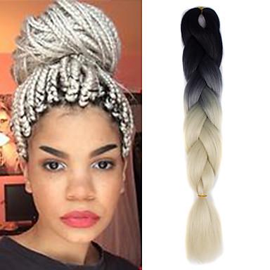 Extensões para Entrelace Cabelo Ombre para Extensão 100% cabelo kanekalon 1 Tranças Jumbo Tranças de Cabelo
