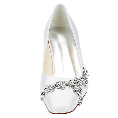 Aiguille Satin royal carré Bout Elastique Talons 05417122 Chaussures Bleu Ivoire Chaussures à Cristal Talon Femme Printemps Champagne Automne z6Bwn5Rqg