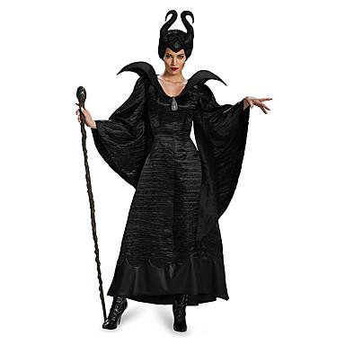 Engel & Djævel / Film & TV Kostumer Kjoler / Cosplay Kostumer Voksne Sexede Uniformer Dame Sort Terylene Cosplay Tilbehør Halloween / Karneval Kostumer
