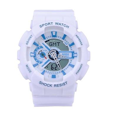 SANDA Digital Japansk Quartz Armbåndsur Smartklokke Militærklokke Sportsklokke Kronograf Vannavvisende LED Selvlysende Stoppeklokke