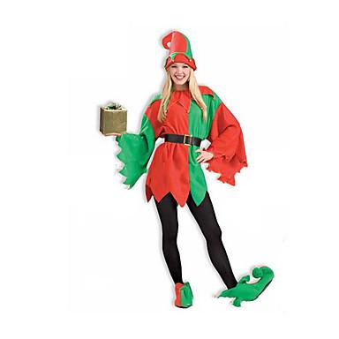 Cosplay-Asut Joulupukki-asu Festivaali/loma Halloween-asut Väri Block T-tausta Saappaat Hat Halloween Unisex Polyesteri