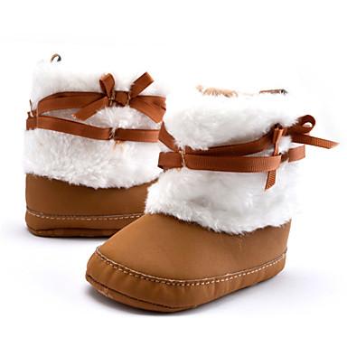 キッズ 男の子 赤ちゃん ブーツ 赤ちゃん用靴 スノーブーツ コットン 冬 カジュアル 赤ちゃん用靴 スノーブーツ リボン フラットヒール カーキ色 フラット