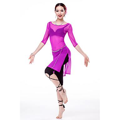 ベリーダンス ドレス 女性用 訓練 チュール ハーフスリーブ ハイウエスト ドレス