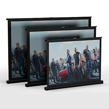 owlenz @ v30 bærbare 30inch 4/3 pull up tabel projektor skærm til DLP mini-projektor